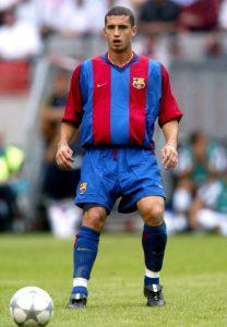 Barcelona's Fabio Rochemback in action during the match against Parma