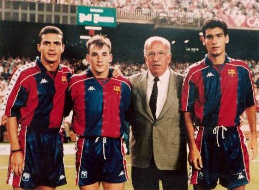 Amor e Guardiola al Barcellona