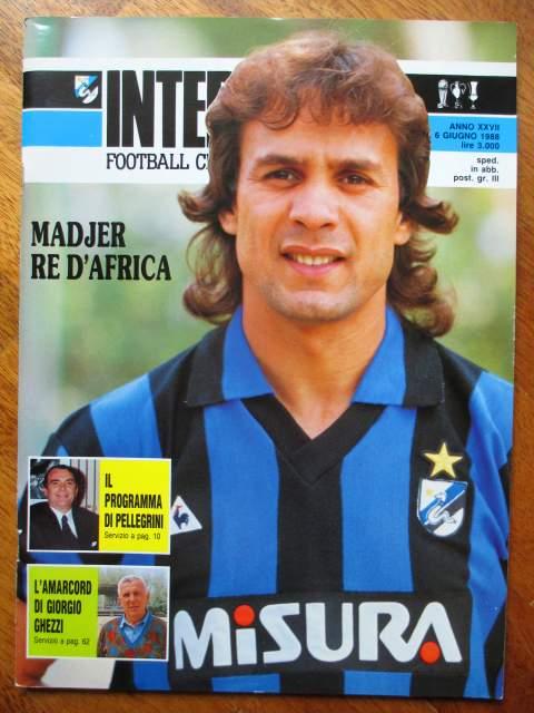 Madjer con la maglia dell'Inter